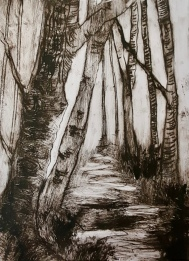 A Walk in the Woods, Drypoint