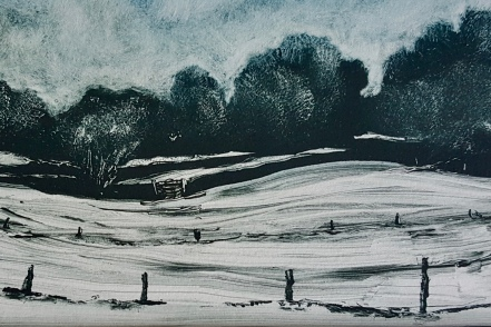 Snow on Mendip, Monotype