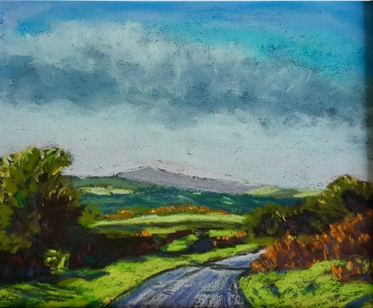Towards Brentnor, Dartmoor Pastels 24cm x 30cm